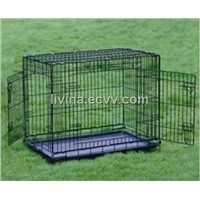 Pet cage with double doors
