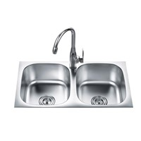 Plane Stainless steel kitchen sink