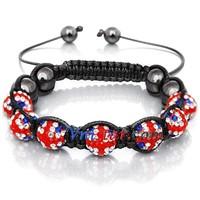 Union Jack Shamballa bracelets SBB067-27