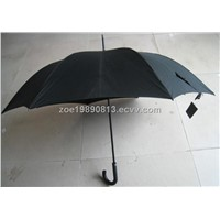 Windproof Pongee Straight Golf Umbrella