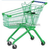 european style supermarket shopping trolley