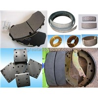 offer brake lining,brake pad and brake shoes