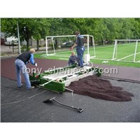 paver machine for athletic track