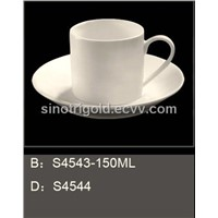 Restaurant Porcelain Tea Cup Saucer