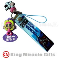 Soft PVC Plastic Cell Phone Strap