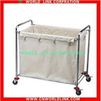 wheeled stainless steel linen cart