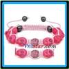 2012 newest skull bracelets with rose rhinestone bead