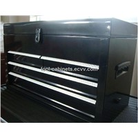 "21"" long tool boxes with 4 drawers coated black high light finish"