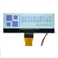 240 x 64 Dots COG 1 Custom LCD Module with White LED Backlight and 32 Gray Scale Display Format