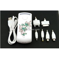 4400 mAh travel chargers with lighting function, classic chinese style printing