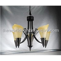 CH10145-5LBK-Simple Black Iron Modern Chandelier in China
