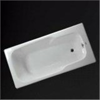 Cast iron enamel bathtub