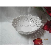 Ceramic cut out bowl