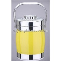 Colorful Drum shape food Flask
