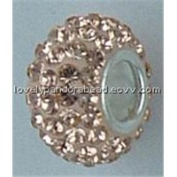 Crystal Beads With 925 Silver Cored