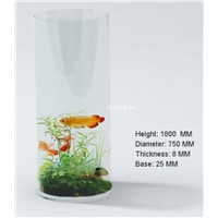 Household and Club Cylinder Acrylic Aquarium