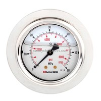 DMASS bourdon tube vibration resistant pressure gauge MBB06U