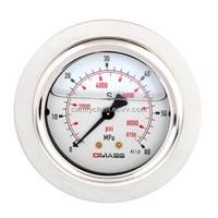 DMASS bourdon tube vibration resistant pressure gauge MBB06U