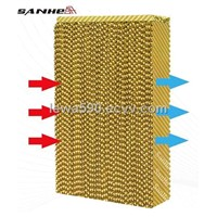Evaporative cooling pad