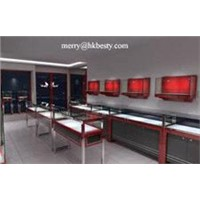Jewellery showroom design with high power led lights for jewelry stores