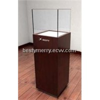 MDF glass customized jewellery display showcase and shop counter design and tower display