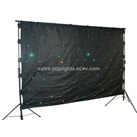 Mix-color LED star cloth curtain