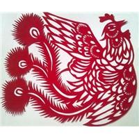 Phoenix Paper Cutting Art for Window Decoration