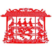 Popular Traditional China Paper Cutting Artcrafts for Window Decorations