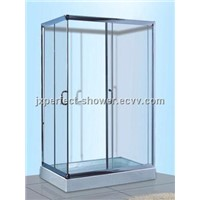 Rectangle sliding glass shower enclosure with tray (ZY-606)