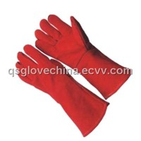 Red Cow Split Leather Welder work gloves