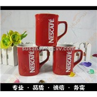 Red Nescafe promotion ceramic coffee mug