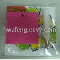Silicone Erasable Eco Memo Pad with Silicone Pen