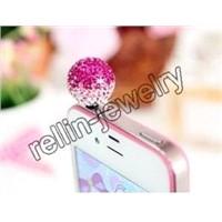 iphone dust plugs,fashion dust plugs,crystal dust plugs