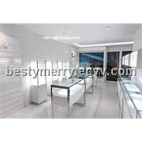 jewellery store furniture and jewelry kiosk design with led lights