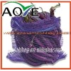 Durable PE raschel bag with drawstring for packaging vegetable fruit