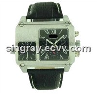 2 in 1 men automatic mechanical watch quartz wristwatch wholesale