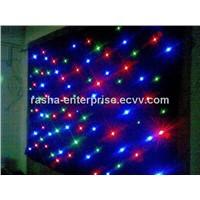 2m*3m  Custumized LED RGB Star Cloth Curtain,DJ Skirt,Stage Starcloth