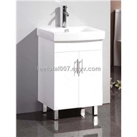 Australian Style High white gloss semi recessed bathroom vanity A-600W