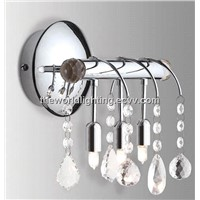 BL6001-Chrome Metal Stand Crystal Decoration Modern Simple Bathroom Vanity Light with3 Bulb