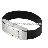 Fashionable 16GB 32GB Bracelet Leather U-Disk