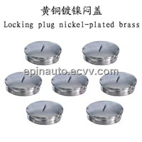 Locking Plug Nickel-Plated Brass