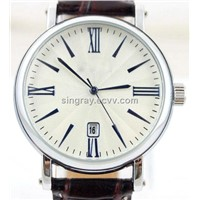 012 men quartz 3 hands date white presice watch wristwatch wholesale