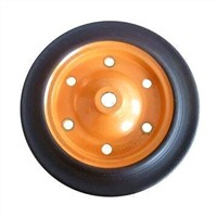 13-inch Heavy-duty Solid Rubber Wheel for Wheelbarrow, Tool Cart and Machines