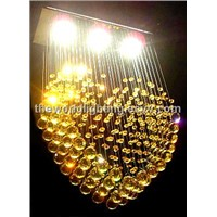 Golden Big Crystal Decoration Heart-Shaped Pendant Lamp (20096115501081302)
