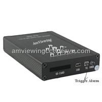 2Channel HD Mini Vehicle DVR / Motion Detect SD Card Car DVR
