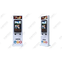 "32"" floor standing self-service coupon kiosk"