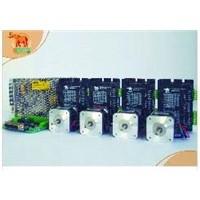 4 Axis CNC router Wantai Nema 17 Stepper Motor 4000g.cm & Digital Driver 36VDC/1.7A/ 128