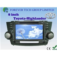 "8"" Toyota HIGHLANDER special use Double din DVD with GPS Touch screen Free map"