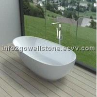 Acrylic Solid Surface Freestanding Bathtub Portable Bathtub