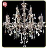 Red Wine Color Glass Candle Shape Crystal Classical Chandelier/Ceiling Light